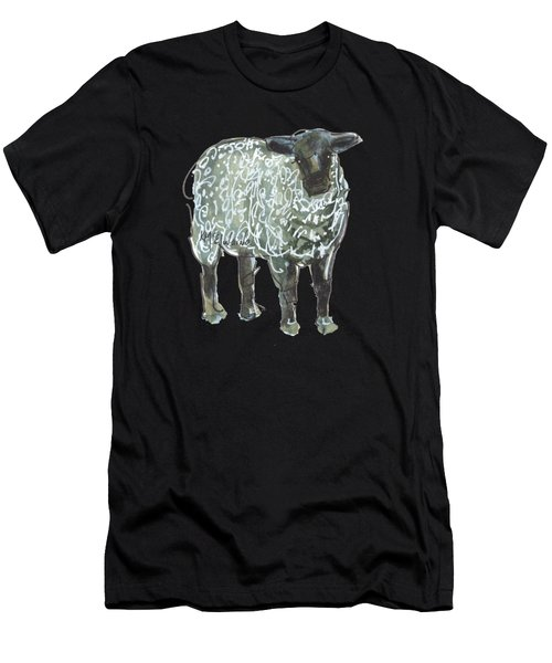 Lamb Art An032 Men's T-Shirt (Athletic Fit)