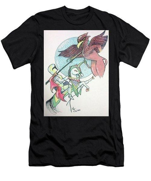 Lancelot And Griffin  Men's T-Shirt (Athletic Fit)