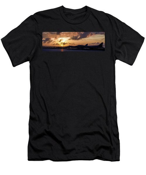 Men's T-Shirt (Slim Fit) featuring the photograph Lancer Flightline by Peter Chilelli