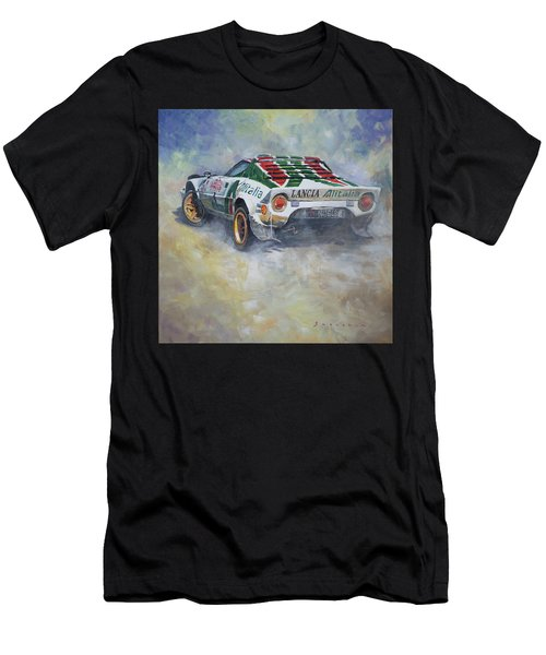 Lancia Stratos 1976 Rallye Sanremo Men's T-Shirt (Athletic Fit)