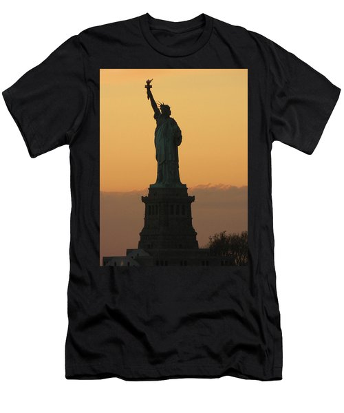Land Of The Free And The Brave Men's T-Shirt (Slim Fit) by Emmy Marie Vickers