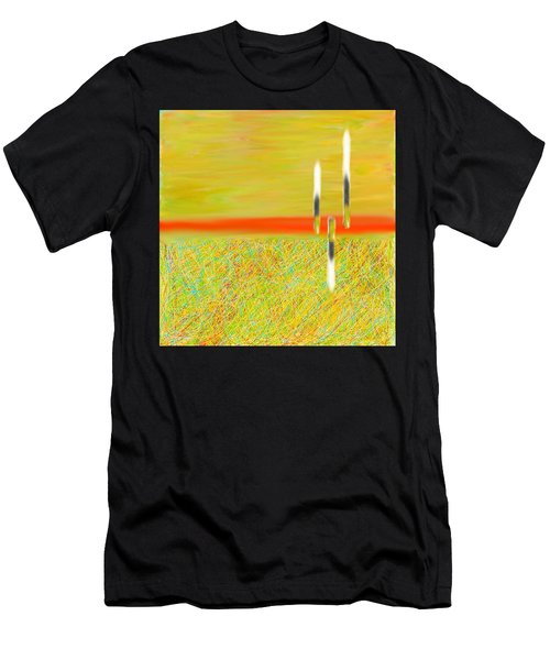 Land Somewhere Men's T-Shirt (Athletic Fit)