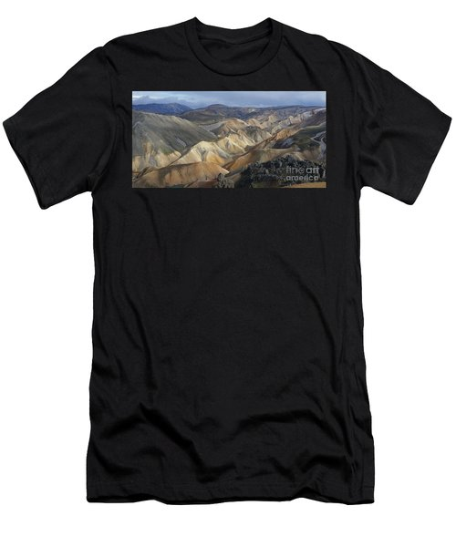 Landmannalaugar Rhyolite Mountains Iceland Men's T-Shirt (Slim Fit) by Rudi Prott