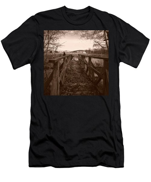 #landscape #bridge #family #tree Men's T-Shirt (Athletic Fit)