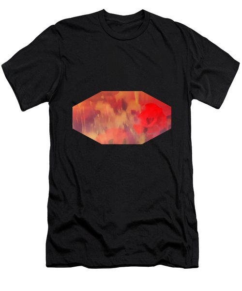 Landscape Of Dreaming Poppies Men's T-Shirt (Athletic Fit)
