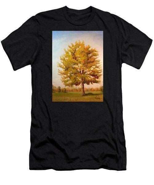 Landscape Oil Painting Men's T-Shirt (Athletic Fit)