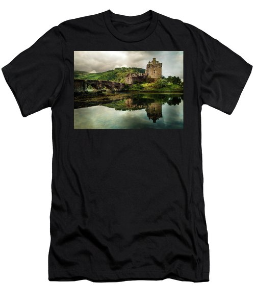 Men's T-Shirt (Athletic Fit) featuring the photograph Landscape With An Old Castle by Jaroslaw Blaminsky