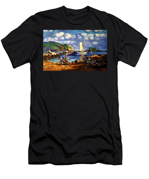 Landscape With Boats Men's T-Shirt (Athletic Fit)