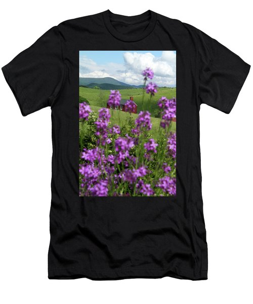 Landscape With Purple Flowers In Virginia Men's T-Shirt (Athletic Fit)