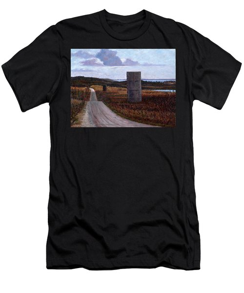 Landscape With Silos Men's T-Shirt (Athletic Fit)