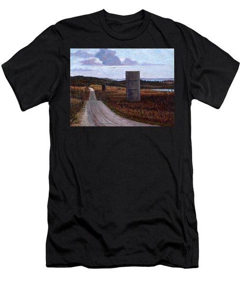 Landscape With Silos Men's T-Shirt (Athletic Fit)