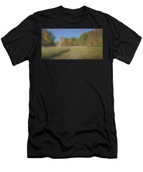Langwater Farm With Pumpkins And Chateau Men's T-Shirt (Athletic Fit)