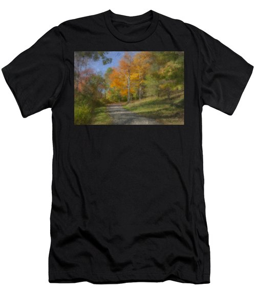 Langwater Path In October Men's T-Shirt (Athletic Fit)