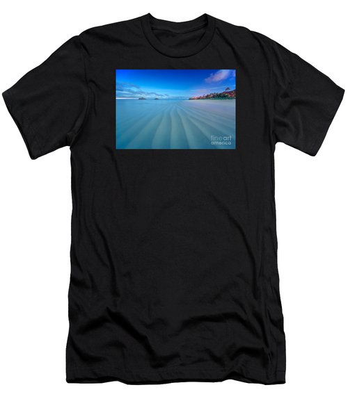 Lanikai Beach Ripples In The Sand Wide Men's T-Shirt (Athletic Fit)