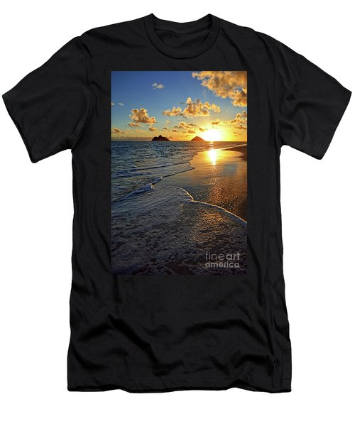 Lanikai Beach Sunrise Foamy Waves Men's T-Shirt (Athletic Fit)