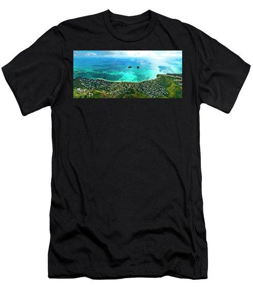 Lanikai Over View Men's T-Shirt (Athletic Fit)