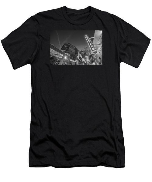 Lansdowne Street Fenway Park House Of Blues Boston Ma Black And White Men's T-Shirt (Athletic Fit)