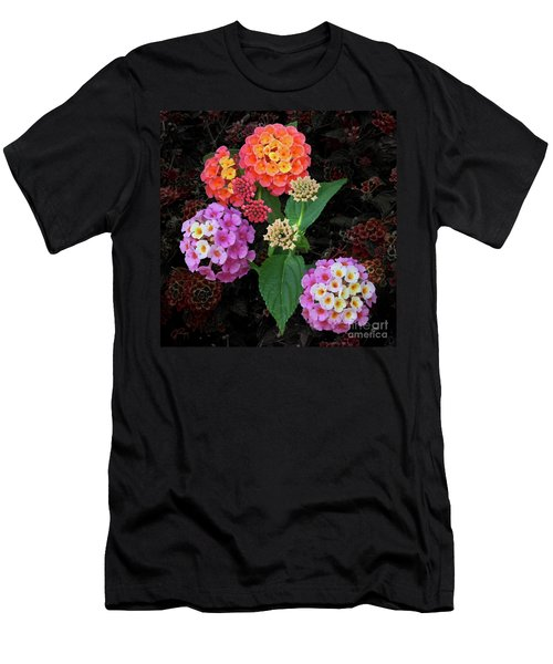 Lantana Camara Shrub Men's T-Shirt (Athletic Fit)