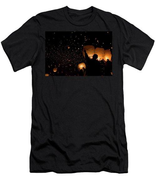 Lantern Fest Group Men's T-Shirt (Athletic Fit)