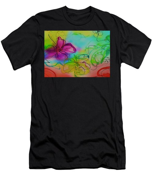 Large Flower 2 Men's T-Shirt (Athletic Fit)