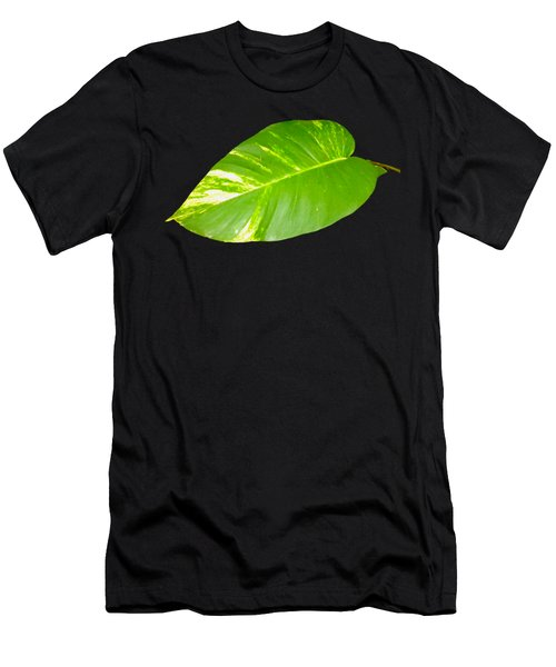 Large Leaf Art Men's T-Shirt (Athletic Fit)