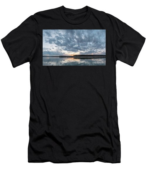 Large Panorama Of Storm Clouds Reflecting On Large Lake At Sunse Men's T-Shirt (Athletic Fit)
