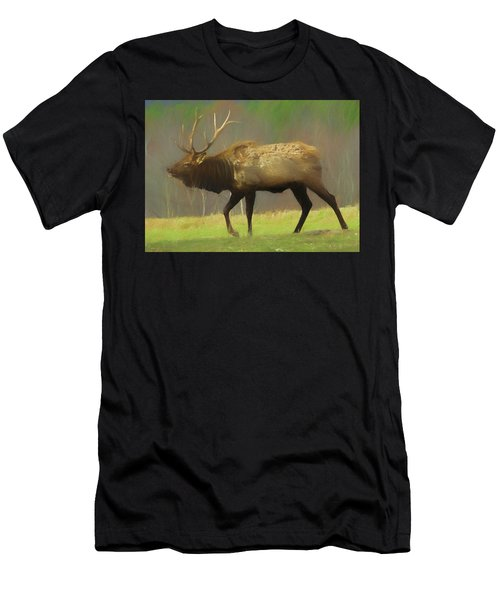 Large Pennsylvania Bull Elk. Men's T-Shirt (Athletic Fit)