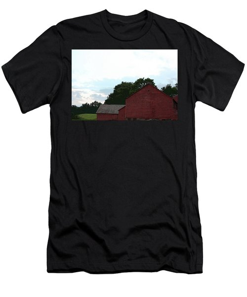 Large Red Barn Men's T-Shirt (Athletic Fit)