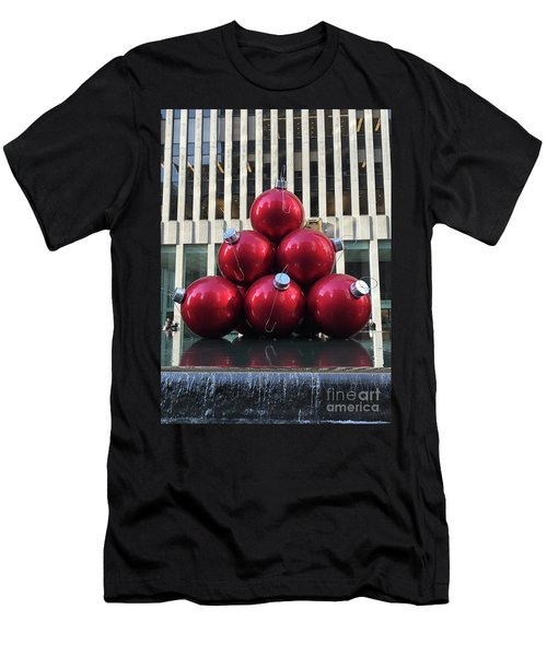 Large Red Ornaments Men's T-Shirt (Athletic Fit)