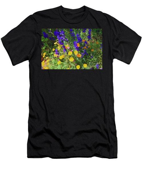 Larkspur And Primrose Garden Men's T-Shirt (Athletic Fit)