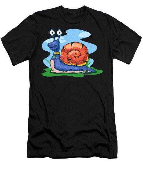 Larry The Snail Men's T-Shirt (Athletic Fit)
