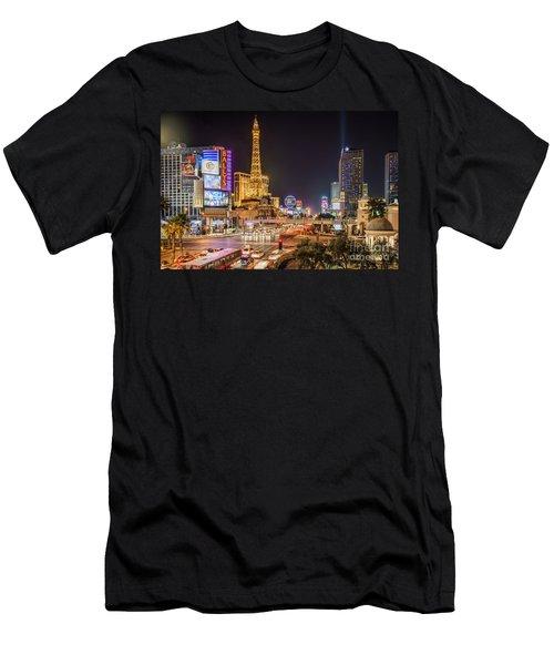 Las Vegas Strip Paris Men's T-Shirt (Athletic Fit)