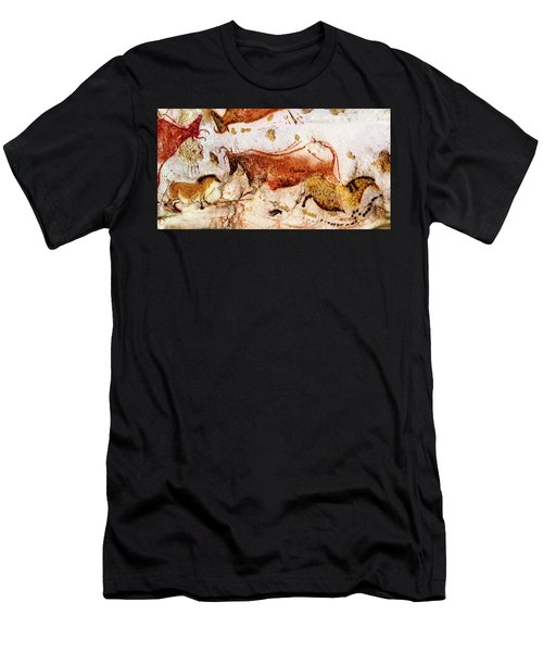 Lascaux Cow And Horses Men's T-Shirt (Athletic Fit)