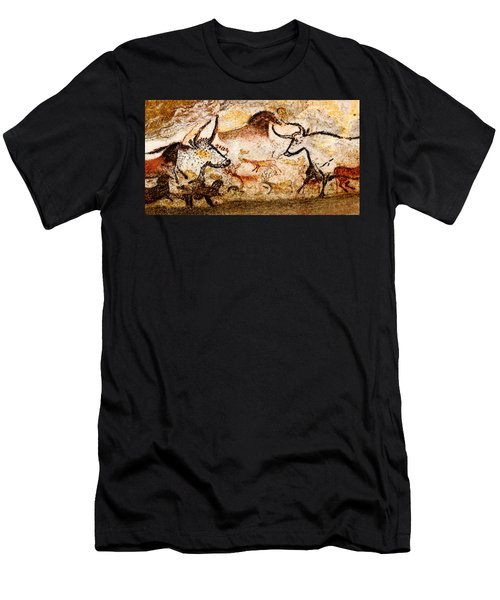 Lascaux Hall Of The Bulls - Deer And Aurochs Men's T-Shirt (Athletic Fit)