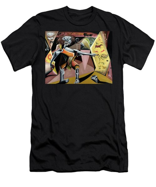 Men's T-Shirt (Athletic Fit) featuring the painting Lascaux by Ryan Demaree