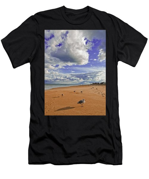 Last Day At The Beach Men's T-Shirt (Athletic Fit)