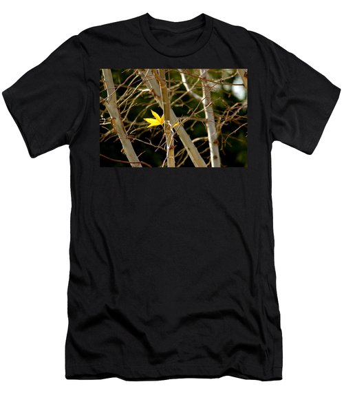 Men's T-Shirt (Slim Fit) featuring the photograph Last Leaf by Kume Bryant