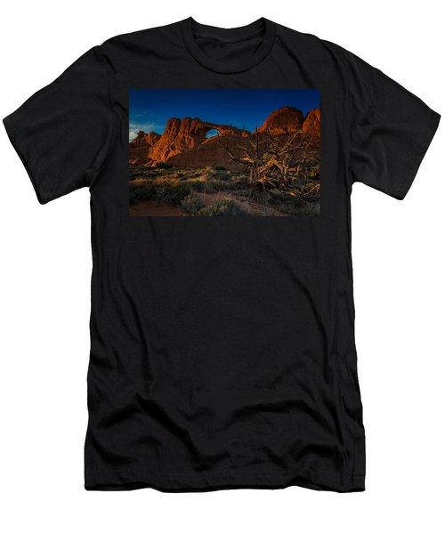 Last Light At Skyline Arch Men's T-Shirt (Athletic Fit)