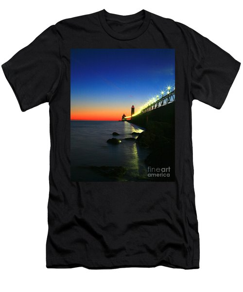 Last Light Grand Haven Michigan Men's T-Shirt (Athletic Fit)