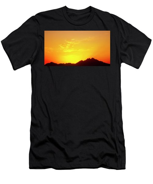 Last Moments Sunset In Africa Men's T-Shirt (Athletic Fit)