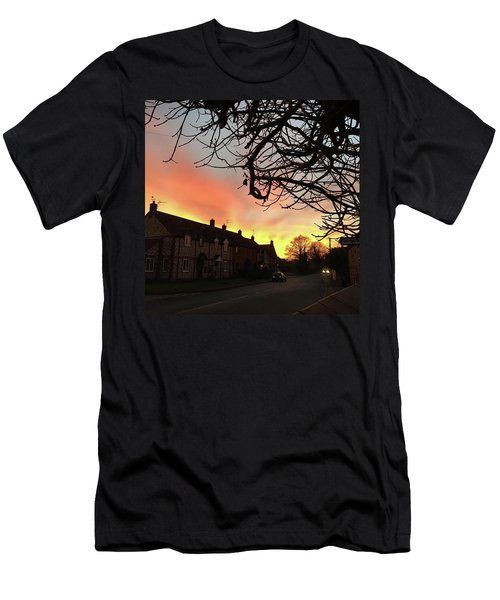 Last Night's Sunset From Our Cottage Men's T-Shirt (Athletic Fit)