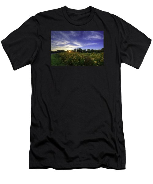 Last Rays Over The Flowers Men's T-Shirt (Athletic Fit)