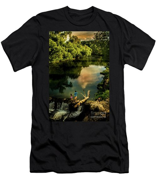 Men's T-Shirt (Slim Fit) featuring the photograph Last Seconds Of Summer by Robert Frederick