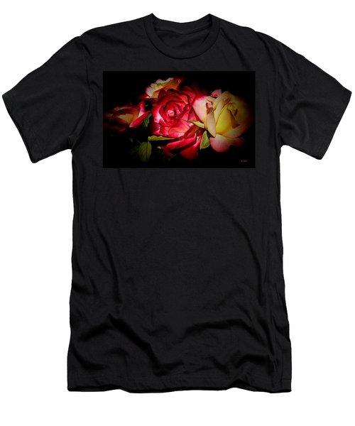Last Summer Roses Men's T-Shirt (Slim Fit) by Gabriella Weninger - David