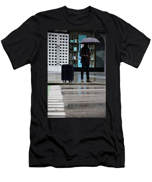 Last Text  Men's T-Shirt (Slim Fit) by Empty Wall