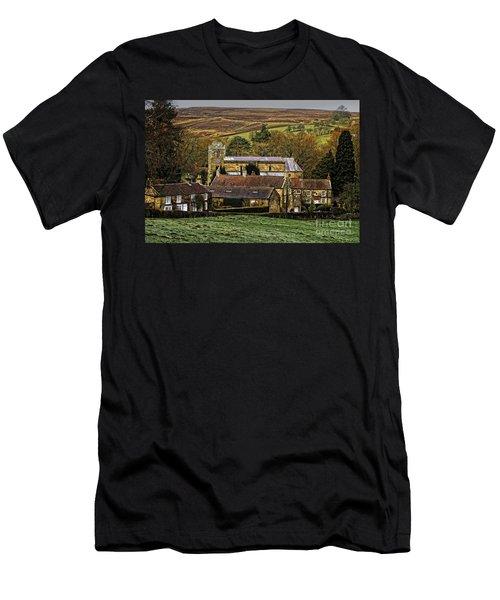 Lastingham Church And Village Yorkshire Men's T-Shirt (Athletic Fit)