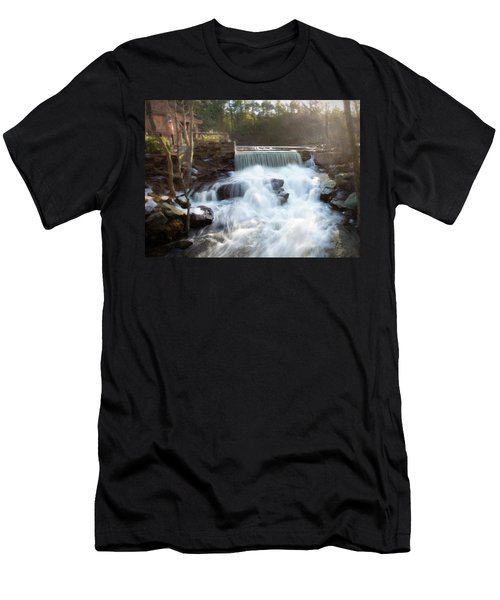Men's T-Shirt (Athletic Fit) featuring the photograph Late Afternoon At The Duck Pond by Sue Collura