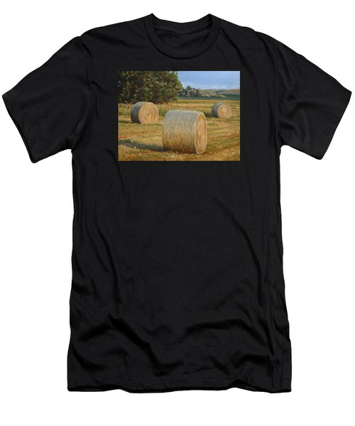 Late Afternoon Bales - Plein Air Men's T-Shirt (Athletic Fit)