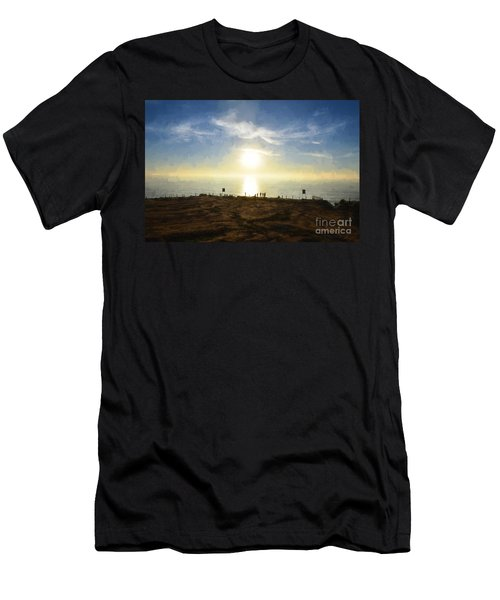 Late Afternoon - Digital Painting Men's T-Shirt (Slim Fit) by Sharon Soberon