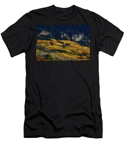 Late Afternoon Light On Aspen Groves At Silver Jack Colorado Men's T-Shirt (Athletic Fit)
